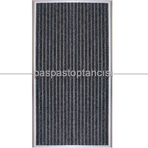 Alüminyum Metal Paspas Bukle Halı Fitilli PM1000 Gri