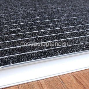 Alüminyum Metal Paspas Bukle Halı Fitilli PM1000 Gri - Thumbnail