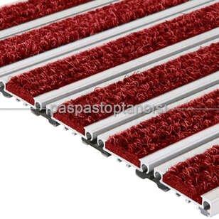 Alüminyum Metal Paspas Bukle Halı Fitilli PM1000 Kırmızı - Thumbnail