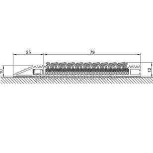 Alüminyum Paspas Bukle Halı Fitilli SM1000 Gri - Thumbnail