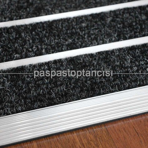 Alüminyum Paspas Bukle Halı Fitilli SM1000 Gri
