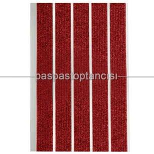 Alüminyum Paspas Bukle Halı Fitilli SM1000 Kırmızı - Thumbnail