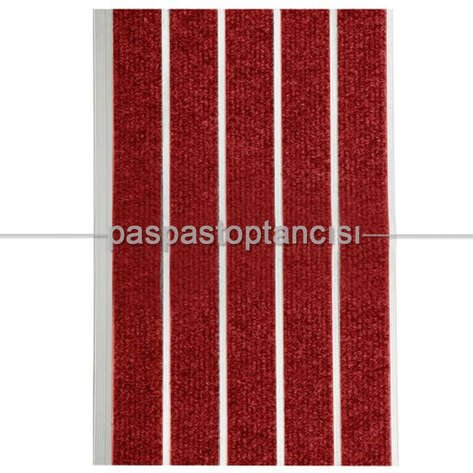 Alüminyum Paspas Bukle Halı Fitilli SM1000 Kırmızı