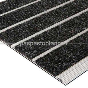 Alüminyum Paspas Bukle Halı Fitilli SM1000 Siyah - Thumbnail