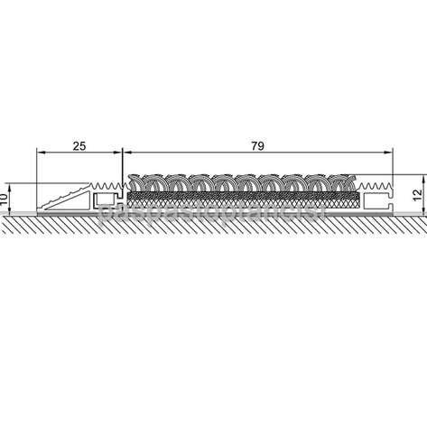 Alüminyum Paspas Bukle Halı Fitilli SM1000 Siyah