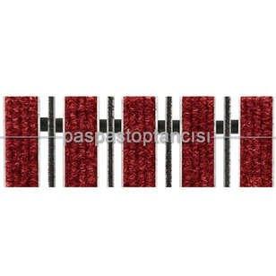 Alüminyum Paspas Bukle Halı Fitilli ve Fırça Sıyırıcılı UM1000F Kırmızı - Thumbnail