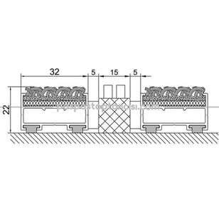 Alüminyum Paspas Bukle Halı Fitilli ve Plastik Fırçalı UM1060 Siyah - Thumbnail