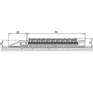 Alüminyum Paspas Bukle Halı Fitilli ve Yivli PVC Fitilli SM1020 Gri - Thumbnail