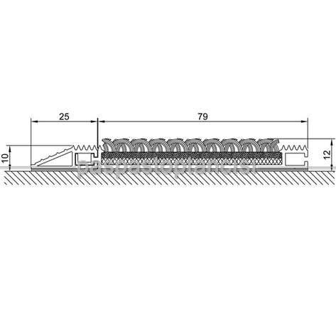 Alüminyum Paspas Bukle Halı Fitilli ve Yivli PVC Fitilli SM1020 Gri
