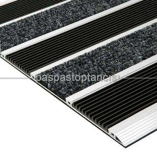 Alüminyum Paspas Bukle Halı Fitilli ve Yivli PVC Fitilli SM1020 Siyah - Thumbnail