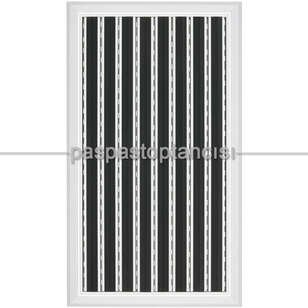 Alüminyum Paspas Yivli PVC Fitilli PM2000 Siyah - Thumbnail