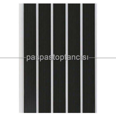 Alüminyum Paspas Yivli PVC Fitilli SM2000 Gri