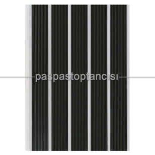 Alüminyum Paspas Yivli PVC Fitilli SM2000 Siyah - Thumbnail