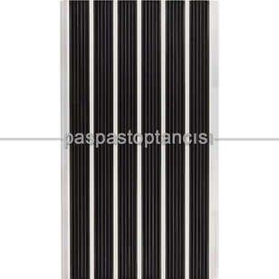 Alüminyum Paspas Yivli Termoplastik Fitilli DM8000 Siyah - Thumbnail