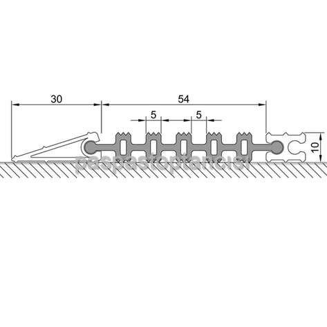 Alüminyum Paspas Yivli Termoplastik Fitilli DM8000 Siyah