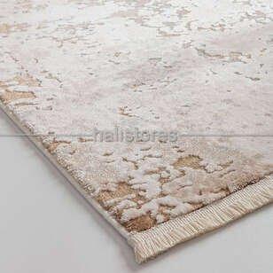 Bahariye Halı Ezgi 5657 Beyaz-Vizon - Thumbnail