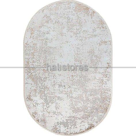 Bahariye Oval Halı Ezgi 5657 Beyaz-Vizon