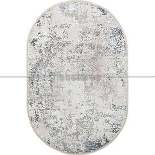 Bahariye Oval Halı Ezgi 5667 Beyaz-Mavi - Thumbnail