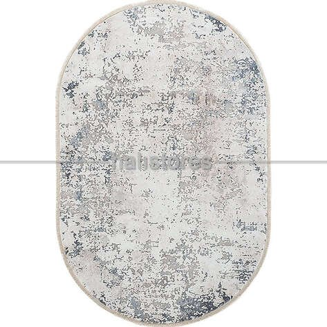 Bahariye Oval Halı Ezgi 5667 Beyaz-Mavi