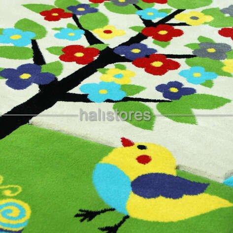 Bahçeli Çocuk Halısı Kids Mavi 995