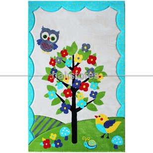 Bahçeli Çocuk Halısı Kids Mavi 995 - Thumbnail