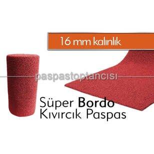 Bordo Kıvırcık Paspas 16 mm - Thumbnail