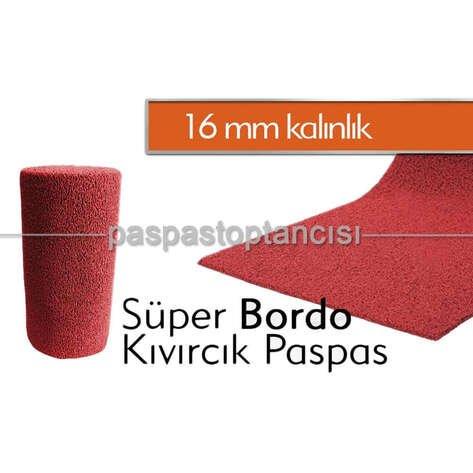Bordo Kıvırcık Paspas 16 mm