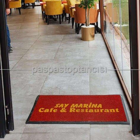 Cafe ve Restaurant Logolu Paspas