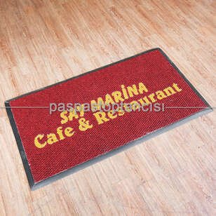 Cafe ve Restaurant Logolu Paspas - Thumbnail