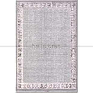 Çerçeveli Bej Gri Salon Halısı Babil 2013BGR - Thumbnail