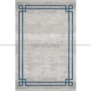 Çerçeveli Gri Mavi Salon Halısı Bella 1015GM - Thumbnail