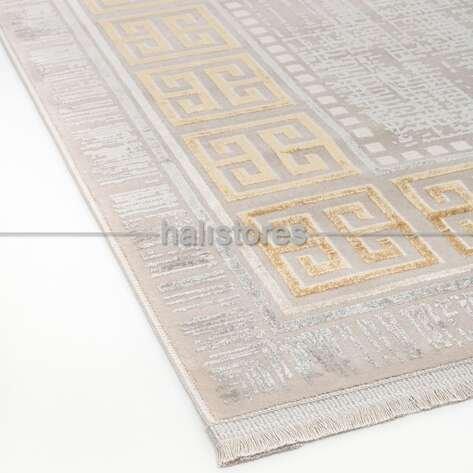 Çerçeveli Halı Deep A908 Gri-Gold