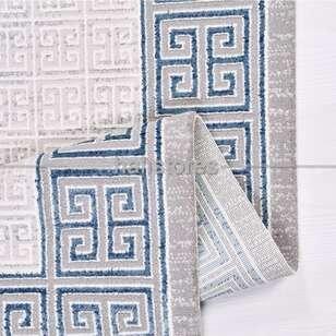 Çerçeveli Mavi Gri Salon Halısı Babil 2013MV - Thumbnail