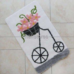Chilai Home Banyo Halısı Alaçatı Pembe - Thumbnail