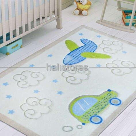 Confetti Baby Road Halı Beyaz