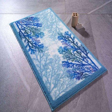 Confetti Banyo Halısı Coral Mavi
