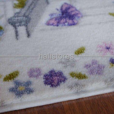 Confetti Banyo Halısı Spilled Flowers Mor