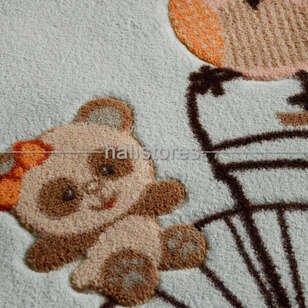 Confetti Çocuk Halısı Oymalı Sunny Day Açık Mavi - Thumbnail