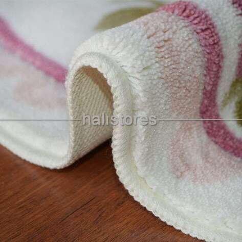 Confetti Kaymaz Banyo Halısı Rosa Pembe