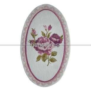 Confetti Kaymaz Banyo Halısı Rosa Pembe - Thumbnail