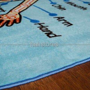Confetti Oval Çocuk Halıları Anatomy - Thumbnail