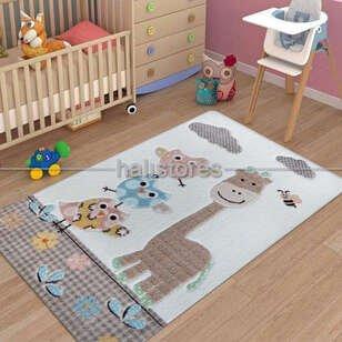 Confetti Oymalı Çocuk ve Bebek Halısı Owls Kum - Thumbnail