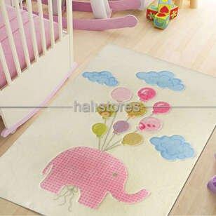 Confetti Sweet Elephant Halı Pembe - Thumbnail