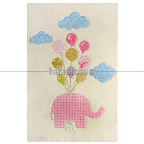 Confetti Sweet Elephant Halı Pembe