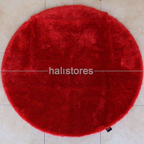 Confetti Yuvarlak Banyo Halısı Miami Kırmızı