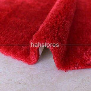 Confetti Yuvarlak Banyo Halısı Miami Kırmızı - Thumbnail