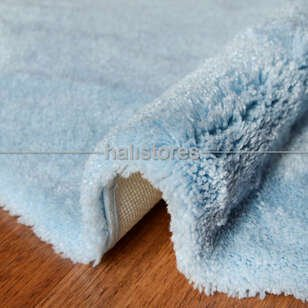 Confetti Yuvarlak Banyo Halısı Miami Pastel Mavi - Thumbnail