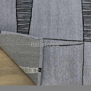 Etnik Desenli Kilim Palma PM 03 Gri - Thumbnail