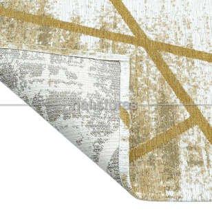 Etnik Desenli Kilim Palma PM 04 Sarı - Thumbnail