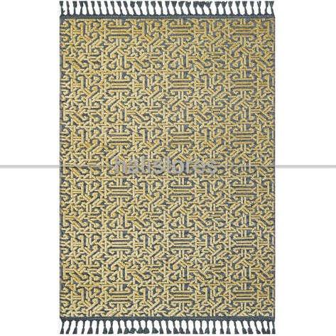 Etnik Desenli Sarı Yolluk Kilim Rönesans 9207RK